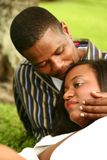 African American Couple Romant Stock Photography