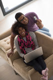 African american couple shopping online Royalty Free Stock Photo