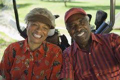 African American Couple Smiling Stock Images