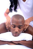 African American Couple at Spa Stock Image