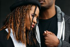 African American couple. Strong relationships stock images