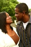 African American Couple Talkin Royalty Free Stock Image