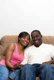 African american couple in their Living Room Royalty Free Stock Images