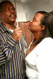 African American Couple Under Umbrella Stock Photography