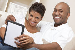 African American Couple Using Tablet Computer Royalty Free Stock Photography