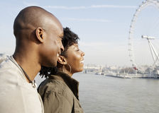 Couple on Westminster Bridge. Royalty Free Stock Photo