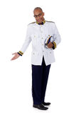 African American cruise ship steward, salute Stock Photos