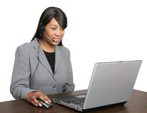 African American CSR rep Stock Photo