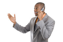 African american customer support operator Royalty Free Stock Photos