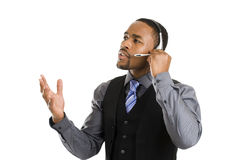 African american customer support operator Stock Photo