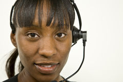 African American Customer Support Representative Stock Photos