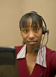 African American Customer Support Representative Stock Image