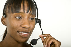 African American Customer Support Representative Royalty Free Stock Images