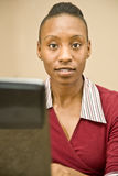African American Customer Support Representative Stock Photos