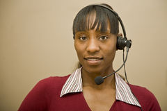African American Customer Support Representative Stock Images