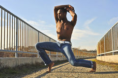 African American dancer. Royalty Free Stock Photo