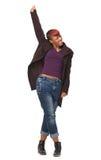 African American Dancer Enjoying Music Stock Images