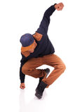 African American dancer hip hop   Royalty Free Stock Photography