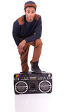 African American dancer hip hop  isolated Stock Photo