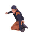 African American dancer hip hop  isolated Royalty Free Stock Images