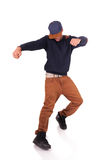 African American dancer hip hop  isolated Royalty Free Stock Photo