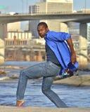 African American dancer / model in Richmond, VA. African American model and dancer in Richmond Virginia Stock Image
