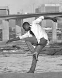 African American dancer / model in Richmond, VA. African American model and dancer in Richmond Virginia Royalty Free Stock Image