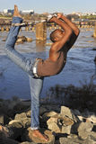 African American dancer / model in Richmond, VA. African American model and dancer in Richmond Virginia Stock Photos