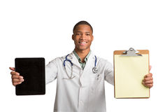 African American Doctor Holding a Notepad Royalty Free Stock Photo