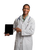 African American Doctor Holding a Notepad Stock Images