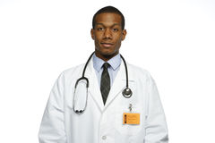 African American doctor, horizontal Royalty Free Stock Images
