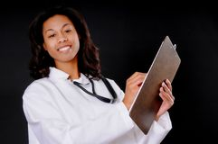 African American Doctor Or Nurse Stock Image