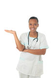 African American doctor nurse black stethoscope Royalty Free Stock Image