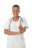 African American doctor nurse black stethoscope Stock Photo