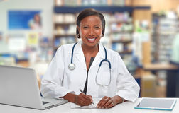African-American doctor woman. Stock Photography