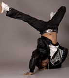 African american doing break dance Stock Photos