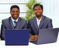 African-american dois no escritório Fotografia de Stock Royalty Free