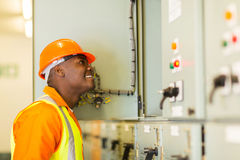African american electrician Royalty Free Stock Photos