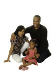 African american family. Isolated on a white background Stock Image