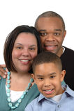 African american family. Against white background Stock Image