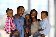 African American Family. Together inside their home Stock Images