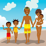 African American Family Beach Vacation Royalty Free Stock Photos