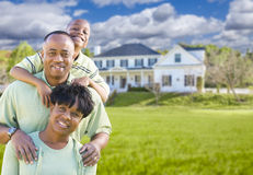 African American Family In Front of Beautiful House Royalty Free Stock Photo