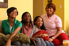 African American Family Home Stock Photos