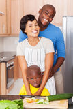 african american family kitchen Stock Photography