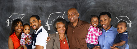 African American Family royalty free stock images