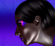 African American Fashion Beauty with glitter cosmetics and black background. African American Fashion Beauty with glitter cosmetics. Perfect for expressing Royalty Free Stock Photography