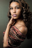 African-american fashion model. Attractive young African-american fashion model Stock Photography