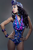 African-american fashion model. Royalty Free Stock Images