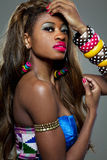 African-american fashion model. Attractive young African-american fashion model Stock Image
